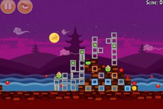 Angry Birds Seasons Mooncake Festival Золотой Лунный Пирог Кусочек 1 на уровне 1-2