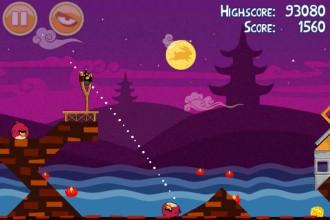 Angry Birds Seasons Mooncake Festival Золотой Лунный Пирог Кусочек 3 на уровне 1-9