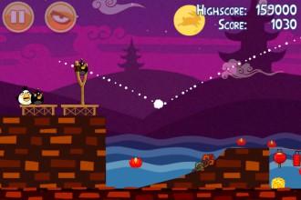 Angry Birds Seasons Mooncake Festival Золотой Лунный Пирог Кусочек 4 на уровне 1-15