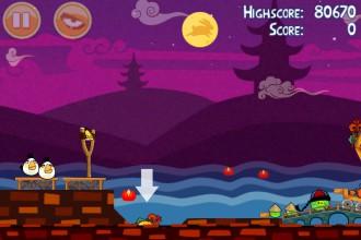 Angry Birds Seasons Mooncake Festival Золотой Лунный Пирог Кусочек 5 на уровне 2-2