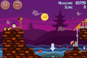 Angry Birds Seasons Mooncake Festival Золотой Лунный Пирог Кусочек 6 на уровне 2-5
