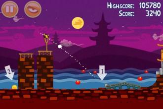 Angry Birds Seasons Mooncake Festival Золотой Лунный Пирог Кусочек 8 на уровне 2-14