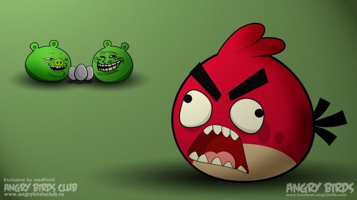 Обои Fuuu Angry Birds Trolling