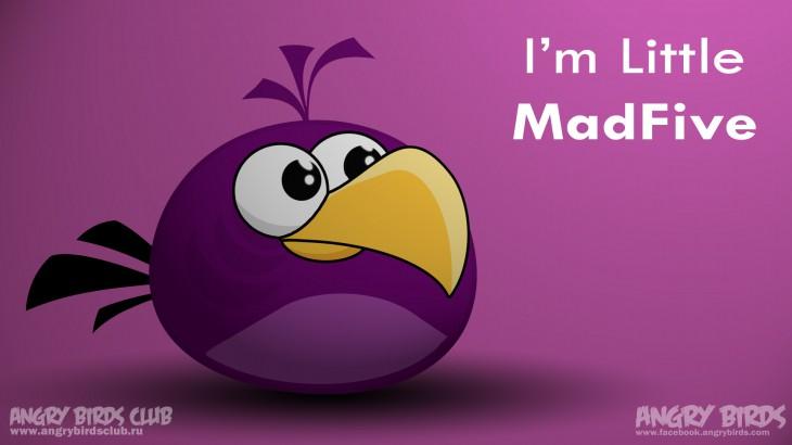 Обои Angry Birds - Little MadFive (новый персонаж)