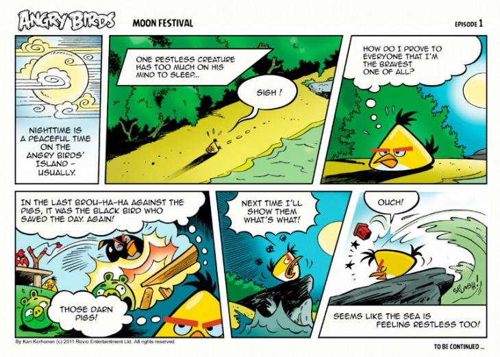 Комикс Angry Birds: Moon Festival - Часть 1