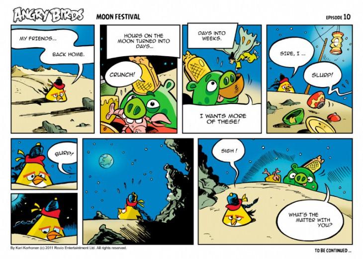 Комикс Angry Birds: Moon Festival - Часть 10