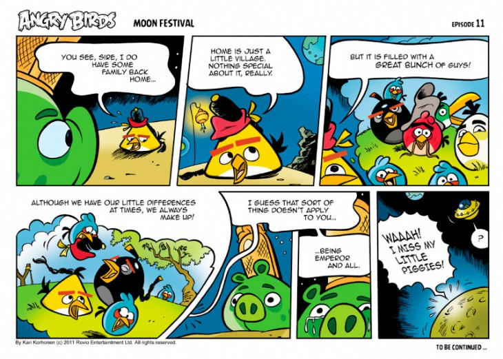 Комикс Angry Birds: Moon Festival - Часть 11