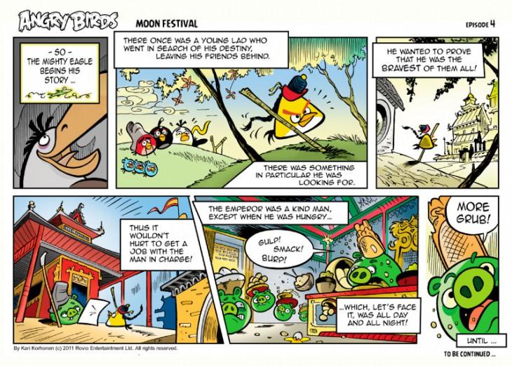 Комикс Angry Birds: Moon Festival - Часть 4