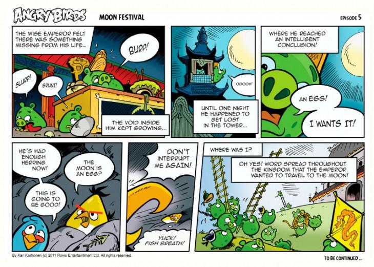 Комикс Angry Birds: Moon Festival - Часть 5