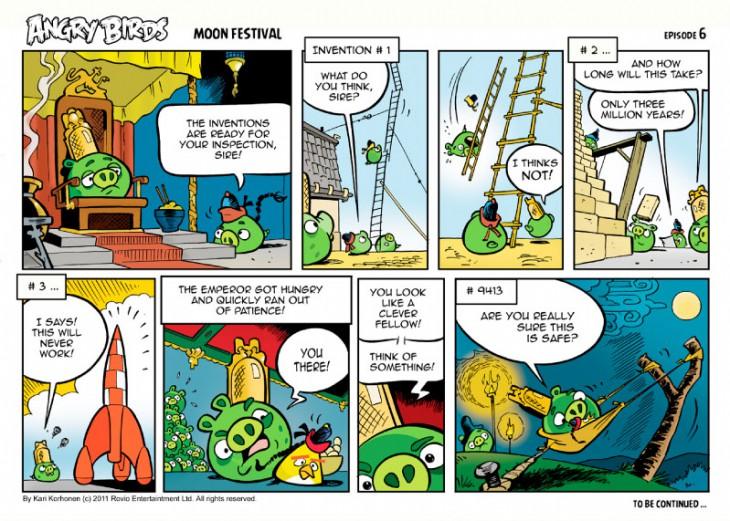 Комикс Angry Birds: Moon Festival - Часть 6