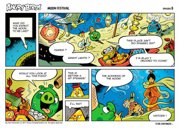 Комикс Angry Birds: Moon Festival - Часть 8