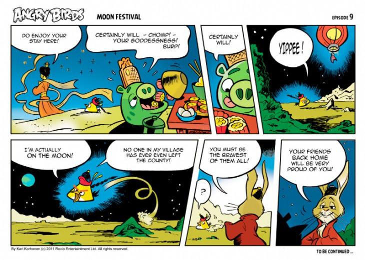 Комикс Angry Birds: Moon Festival - Часть 9