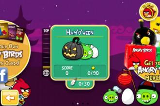 Angry Birds Seasons Ham`o'ween - Экран выбора эпизода