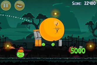 Angry Birds Seasons Ham`o'ween - Оранжевый Птиц в действии