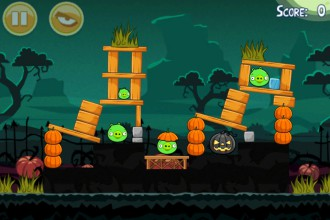 Angry Birds Seasons Ham`o'ween - Уровень 1-1