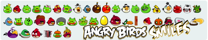 Angry Birds Smiles Pack - Набор смайликов Angry Birds
