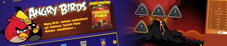 Angry Birds Volcano - новая мини-игра от Rovio и Fazer