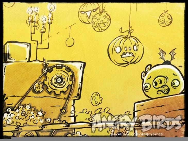 Angry Birds Halloween 2 Facebook Card