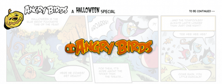 Комикс Angry Birds Halloween