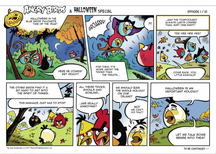 Комикс Angry Birds: Halloween - Часть 1