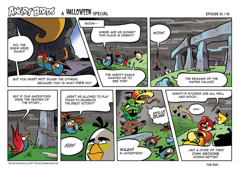 Комикс Angry Birds: Halloween - Часть 10