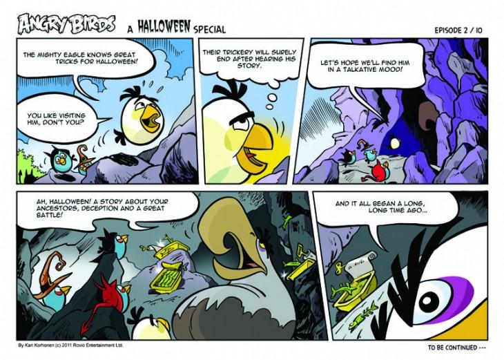 Комикс Angry Birds: Halloween - Часть 2