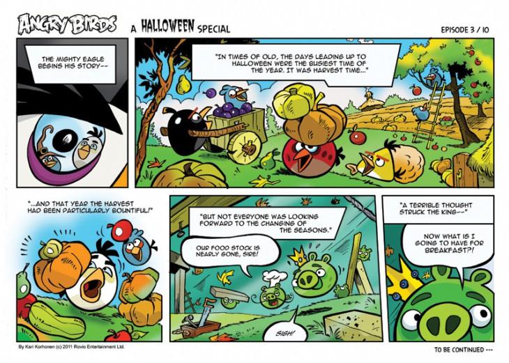 Комикс Angry Birds: Halloween - Часть 3