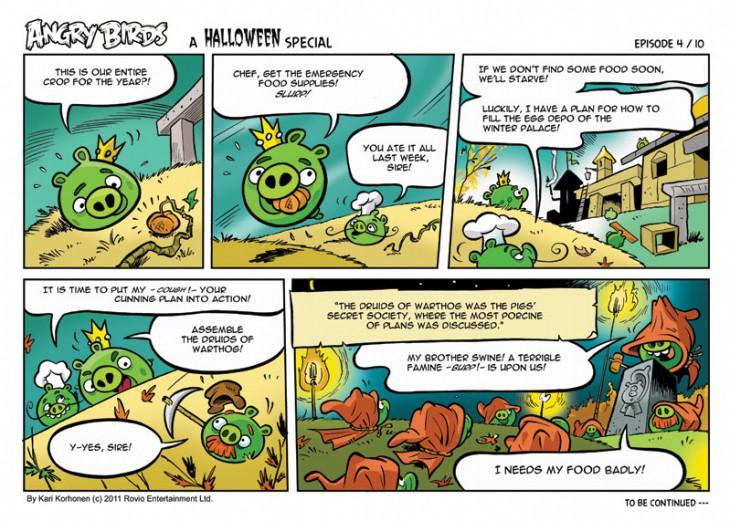 Комикс Angry Birds: Halloween - Часть 4