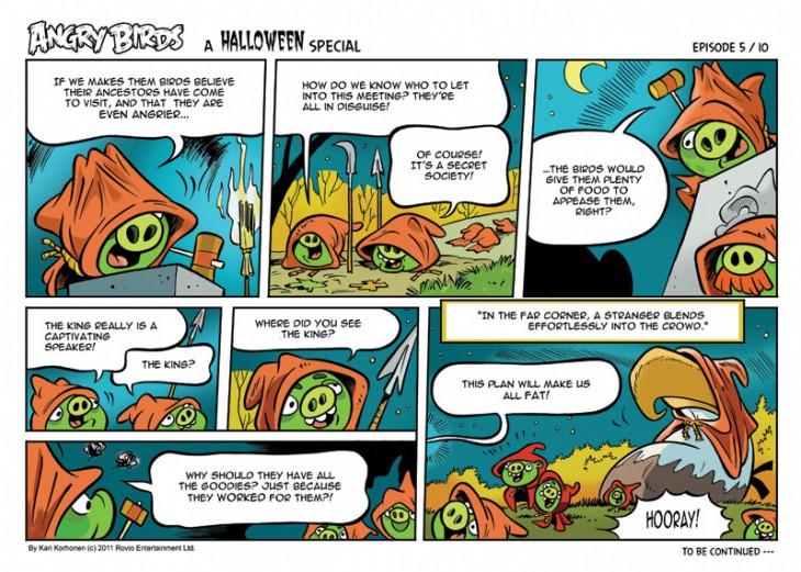Комикс Angry Birds: Halloween - Часть 5