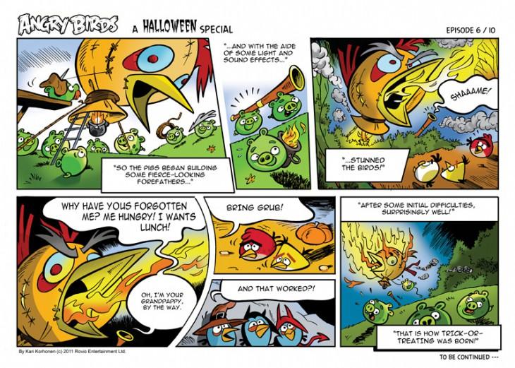 Комикс Angry Birds: Halloween - Часть 6