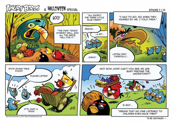 Комикс Angry Birds: Halloween - Часть 7