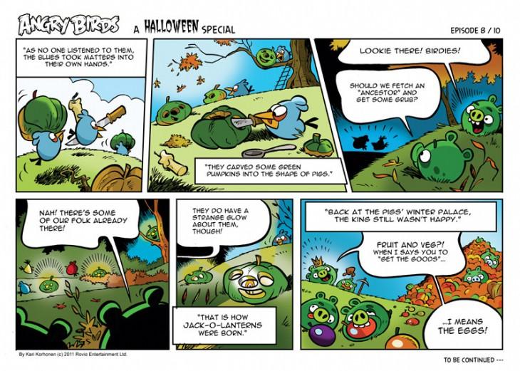 Комикс Angry Birds: Halloween - Часть 8