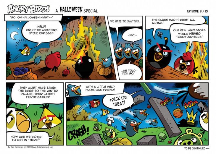 Комикс Angry Birds: Halloween - Часть 9