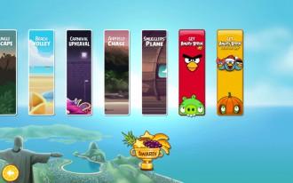 Утечка: Angry Birds Rio - Самолёт контрабандистов: Экран выбора эпизода