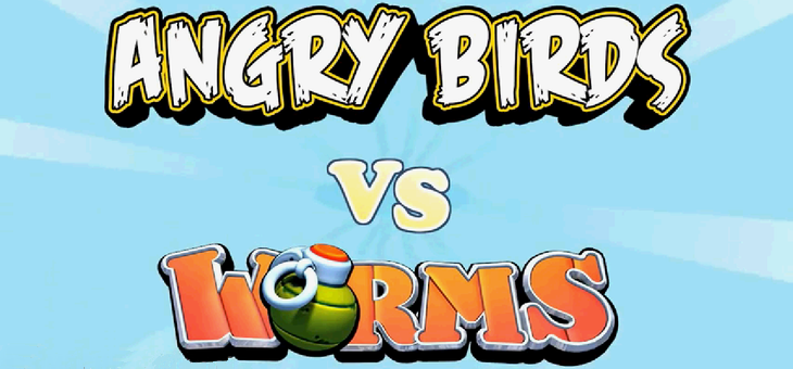 Angry Birds против Worms