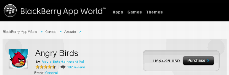 Angry Birds вышли на Blackberry Playbook
