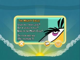 Angry Birds Chrome: Запрос на покупку Mighty Eagle