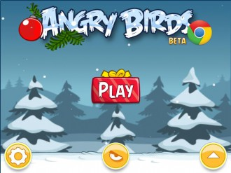 Angry Birds Chrome: Экран в стиле Season's Greedings