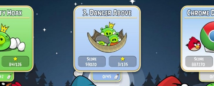 Angry Birds Chrome - Эпизод Danger Above