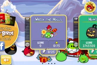 Angry Birds Seasons Wreck the Halls - Экран выбора эпизода