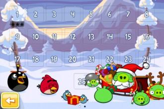 Angry Birds Seasons Wreck the Halls - Экран выбора уровня