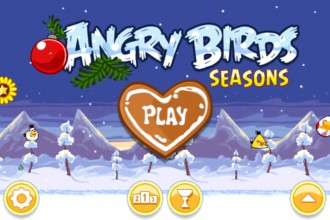 Angry Birds Seasons Wreck the Halls - Главное меню
