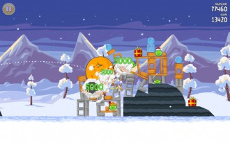 Angry Birds Seasons Wreck the Halls - Один из уровней