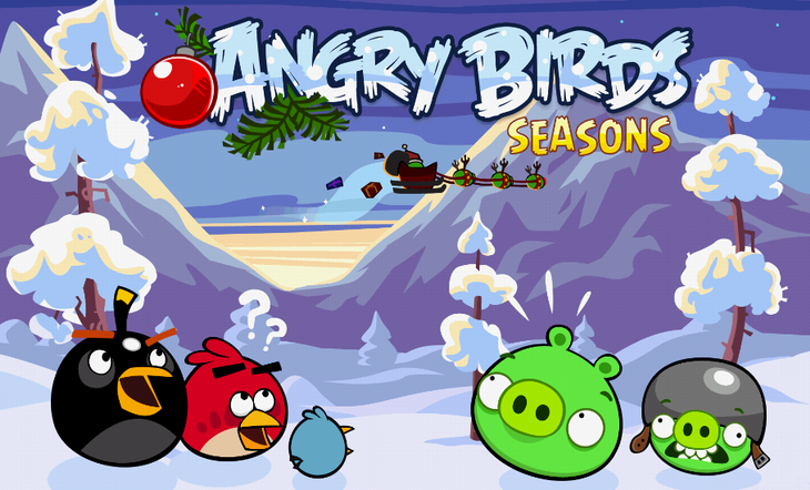 Новый эпизод Angry Birds Seasons - Wreck the Halls