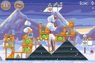 Angry Birds Seasons Wreck the Halls - Уровень 1-1
