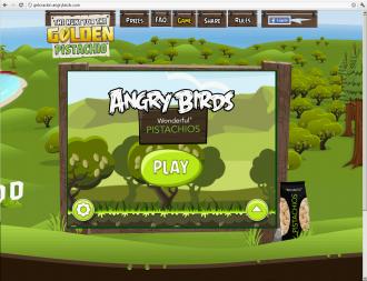 Главное меню Angry Birds Golden Pistachios