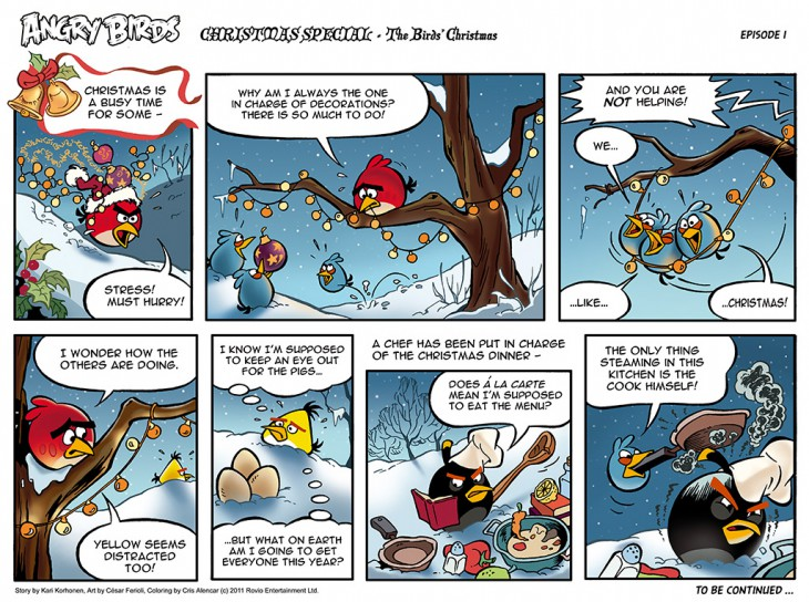 Комикс Angry Birds: The Birds' Christmas - Часть 1