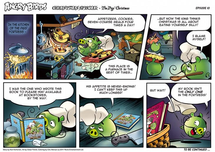 Комикс Angry Birds: The Birds' Christmas - Часть 10