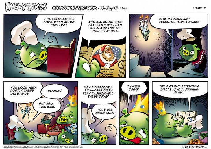 Комикс Angry Birds: The Birds' Christmas - Часть 11