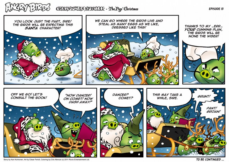 Комикс Angry Birds: The Birds' Christmas - Часть 13